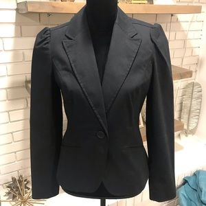 Gap Puff Shoulder Black Blazer, EUC, Sz 10